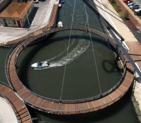 Ponte Circular no Canal de S. Roque – Intervenção Polis na cidade de Aveiro