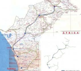 Electrificação da Província de Cabinda – Redes de Transporte e de Distribuição (6 Subestações, 180Km de Linhas AT, 100Km de Linhas MT Aéreas e 30Km de Linhas MT Subterrâneas)